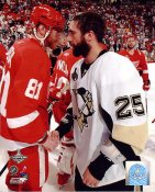 Max Talbot & Marian Hossa LIMITED STOCK Game 7 Stanley Cup 2009 Penguins 8x10 Photo