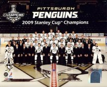 Penguins 2009 Team Sit Down Pengins Stanley Cup Full Team Champions SATIN 8x10 Photo LIMITED STOCK