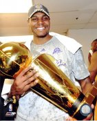 Andrew Bynum 2009 NBA Champs Trophy Los Angeles Lakers 8x10 Photo LIMITED STOCK