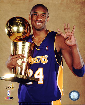 Kobe Bryant With Champs Trophy NBA Finals 2009 Los Angeles Lakers 8x10 Photo LIMITED STOCK