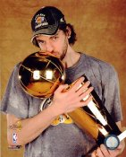 Pau Gasol With Champs Trophy NBA Finals 2009 Los Angeles Lakers 8x10 Photo LIMITED STOCK