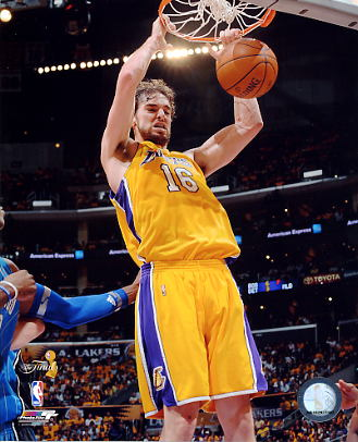 Pau Gasol Game 1 NBA Finals 2009 Los Angeles Lakers 8x10 Photo LIMITED STOCK