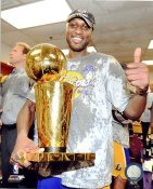 Lamar Odom With Champs Trophy NBA Finals 2009 Los Angeles Lakers 8x10 Photo LIMITED STOCK