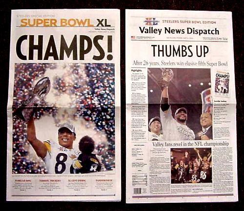 Steelers 2006 Super Bowl 40 Newspaper Pittsburgh