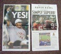 Tampa Bay 2003 Super Bowl 37 Buccaneers Newspaper