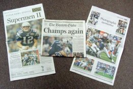 Patriots 2004 Boston Globe Super Bowl 38 Newspaper New England