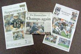 Patriots 2004 Boston Globe Super Bowl 38 Newspaper New England
