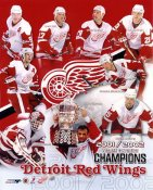 Detroit 2001/2002 Red Wings Western Conference Champions 8x10 Photo