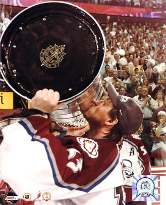 Patrick Roy with 2001 Stanley Cup Colorado Avalanche 8x10  LIMITED STOCK