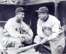 Babe Ruth & Lou Gehrig Yankees 8X10 Photo