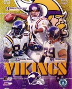 Daunte Culpepper, Randy Moss & Chris Hovan G1 Limited Stock Rare Vikings 8X10 Photo