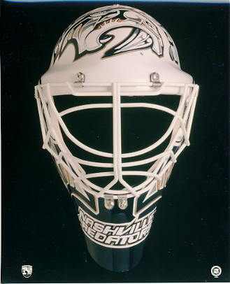 Nashville Predators Mask 8x10 Photo