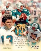 Dan Marino with Stats Limited Edition 8X10 Photo