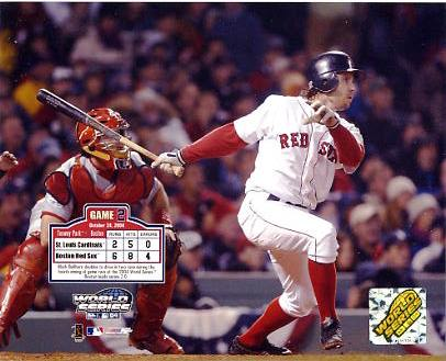 Mark Bellhorn Game 2 WS 2004 Boston Red Sox 8x10 Photo