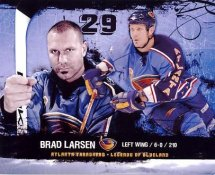 Brad Larsen Atlanta Thrashers G1 LIMITED STOCK RARE 8X10 Photo