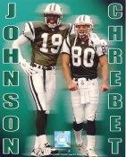Keyshawn Johnson & Wayne Chrebet G1 Limited Stock Rare Jets 8X10 Photo
