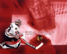 Nikolai Khabibulin Blackhawks G1 LIMITED STOCK RARE 8X10 Photo