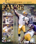 Brett Favre 421 Touchdown Pass Composite Green Bay Packers 8X10 Photo