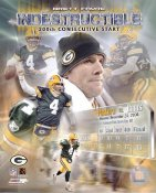 Brett Favre Indestructible 200th Consecutive Start Green Bay Packers 8X10 Photo LIMITED STOCK