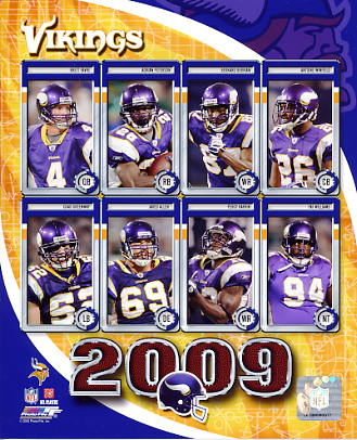 Vikings 2009 Minnesota Team 8X10 Photo