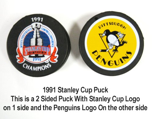 Penguins 1991 Puck Stanley Cup Hockey Puck