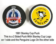 Penguins 1991 Puck Stanley Cup Hockey Puck