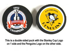 Penguins 1992 Puck Stanley Cup Hockey Puck