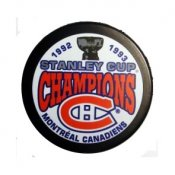 Canadiens 1993 Puck Stanley Cup Hockey Puck
