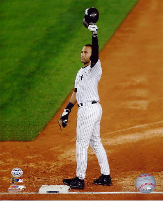 Derek Jeter Tips Hat 2,722 Hits New York Yankees LIMITED STOCK 8X10 Photo