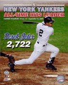Derek Jeter All-Time Hits Leader 2,722 New York Yankees LIMITED STOCK 8X10 Photo