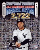 Derek Jeter All-Time Hits Leader 2,722 Composite New York Yankees LIMITED STOCK 8X10 Photo