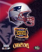 Patriots 2004 Super Bowl 38 Helmet 8x10 Photo