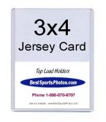 Toploader 3 x 4 Extra Thick Jersey Card & Memoribilia Card Top Load 79 Point - Pack Of 25