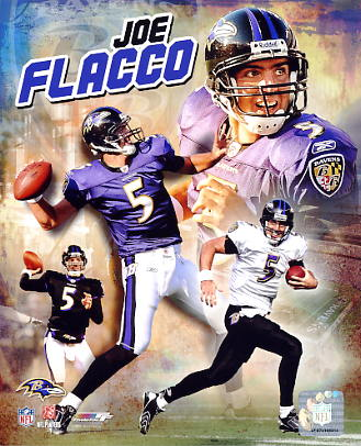 Joe Flacco Composite Baltimore Ravens 8X10 Photo