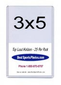 Toploader 3 x 5 Sports Card Top Load - Pack Of 25