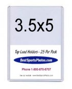 Toploader 3-1/2 x 5 Large Card & Photo Top Load - Pack Of 25