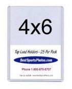 Toploader 4 x 6 Post Card Top Load - Pack Of 25