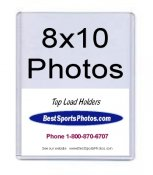 Toploader 8 x 10 Photos Top Load - Pack Of 25