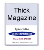 Toploader 9x11 (Inside) 9 3/8 x 11.25 x 9/32 (Outside) Thick Magazine Top Load - Pack Of 10