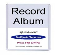 Toploader Record Album 12.75x12.75x3/16 (Inside) 13x 13 (Outside) Top Load - Pack Of 5