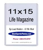 Toploader Life & Large Magazine 11 1/8x15 3/16x1/4 (Inside) Holder Top Load - Pack Of 10