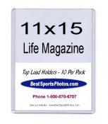 Toploader Life & Large Magazine 11 1/8x15 3/16x1/4 (Inside) Holder Top Load - Pack Of 10