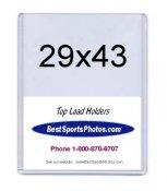 Toploader XL5 29 x 43 Uncut Sheets Top Load - Pack Of 10