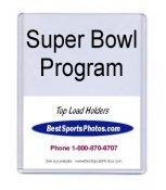 Toploader 8-7/8 x 11-1/2 x 2/5 (Inside) 10mm Super Bowl Program Top Load 9 3/8x 11 2/34x3/8 (Outside) - Pack Of 5