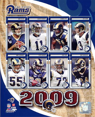Rams 2009 St. Louis Team 8X10 Photo
