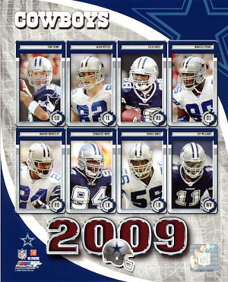Cowboys 2009 Dallas Team 8X10 Photo