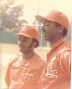 Lonnie Smith & Willie McGee G1 Limited Stock Rare St. Louis Cardinals 8X10 Photo