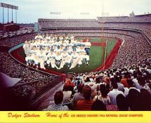 Dodgers 1966 LA Team Original Stadium Photo With Facsimile Autographs on Back 8X10 Photo