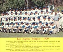 Dodgers 1970 LA Team Original Stadium Photo With Facsimile Autographs on Back 8X10 Photo