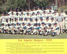 Dodgers 1970 LA Team Original Stadium Photo With Facsimile Autographs on Back 8X10 Photo